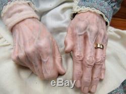 Vintage Ceramic Old Grandma Woman Grandpa Man Porcelain Doll Set 5788K