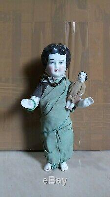 Vintage Charlotte frozen Porcelain 1980s Germany doll frozen toy porcelain doll