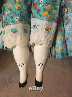 Vintage China Head 1981 Porcelain Doll 26 Inches /very Large