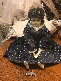 Vintage China Head 1981 Porcelain Doll 29 Inches- Very Large