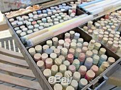 Vintage China Porcelain Doll Cork Glass Vials Powder Pigment Paint Lot