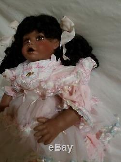 Vintage Collection Baby Tina Porcelain Doll African American NN LOT 253