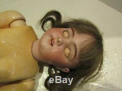 Vintage Doll 25 Inch Simon Halbig 1079 German Porcelain Head Composition Body