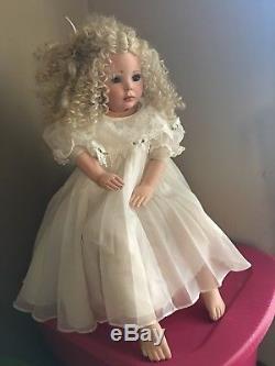 Vintage Donna RuBert 30 Porcelain Doll Crystal Blonde hair blue eyes