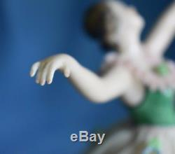 Vintage Dresden Pink Lace Ballerina Dancer Figure Germany Half Doll Related