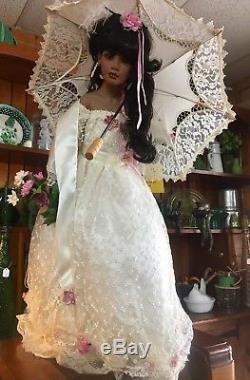 Vintage Dwi Saptono African American Porcelain Doll, 36