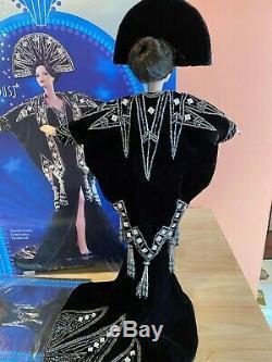 Vintage Erte Barbie Doll Stardust 2nd Series Black Porcelain Doll with Box