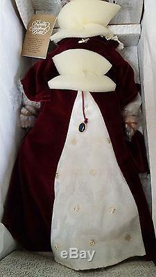Vintage Franklin Heirloom Porcelain Doll Queen Mary I 20 NIB & COA Mint