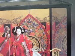 Vintage Franklin Mint Kyugetsu Japanese Porcelain Doll Tokyo In Glass Case