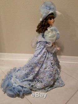 Vintage Franklin Mint Morning Glory Porcelain Doll 22H
