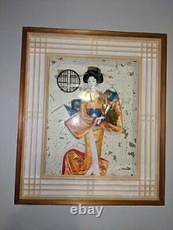 Vintage Geisha Japanese porcelain Doll