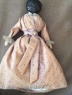 Vintage German Porcelain Bisque Cloth Doll 11 inches w Stand Toy Antique
