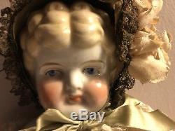 Vintage German Porcelain China Doll 19 1/2 L