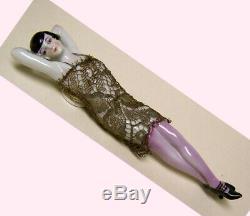 Vintage German Porcelain Pincushion Half Doll Lady In Lace Suit- Liquidation