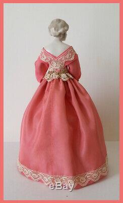 Vintage German Porcelain Pincushion Half Doll Liquidation Rare Fulper Doll