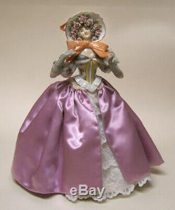 Vintage German Porcelain Pincushion Half Doll Liquidation-rare Huge Bow