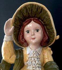 Vintage Girls Four Seasons Porcelain / Ceramic Figurine Dolls Handmade 1985