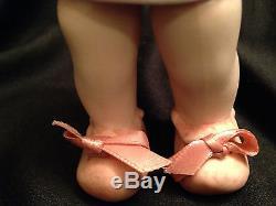 Vintage Hand Painted Socket Jointed Strung Porcelain Bisque Twin Doll Set 6