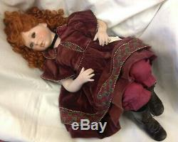 Vintage Haunted Scary China Porcelain Doll Red Hair French