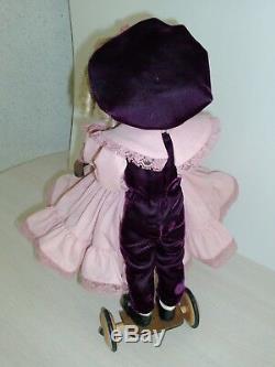 Vintage Jus Me Porcelain Boy & Girl Keepsake LE 13 Collector Dolls with Bike EUC