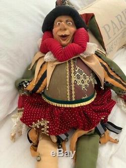Vintage Katherines Collection Wayne Kleski Holiday Jester Doll 27