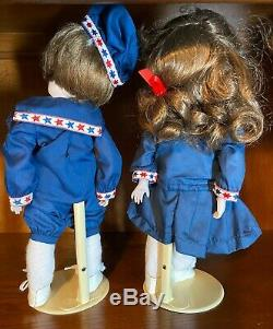 Vintage Kendall's Of Los Angeles 1982 All Porcelain 14 Googly Dolls/pair