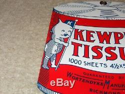 Vintage Kewpie Doll Tissue 6 Porcelain Metal Die-cut Paper Gas Oil Dolls Sign