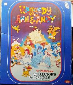 Vintage Knickerbocker Raggedy Ann And Andy 16 Porcelain Dolls 1983 by Ideal