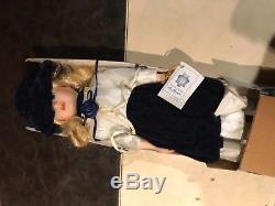 Vintage La Damine Porzellan Puppe -creazione artigiana di monte