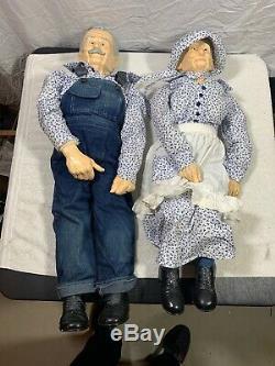 Vintage Large 36 Grandma and Grandpa Dolls 1989 Couple William Wallace Jr