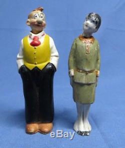 Vintage Lot German Nodder Bisque Gasoline Alley Porcelain Comic Figurines