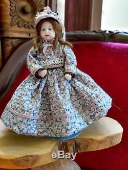 Vintage Lot Victorian Family Dolls Dollhouse Miniature Handmade Porcelain