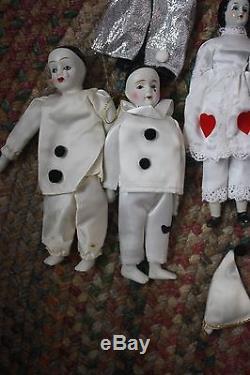 Vintage Lot of 24 Silvestri Ceramic Dolls Parts Some New