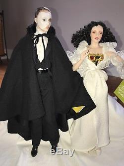 Vintage Phantom Of The Opera Franklin Heirloom Porcelain Dolls, Mint