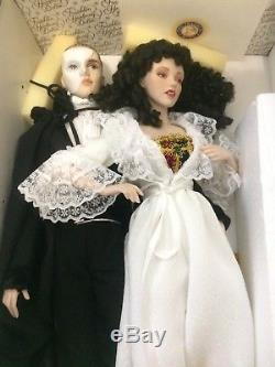 Vintage Phantom Of The Opera Franklin Heirloom Porcelain Dolls Rare Htf 1986