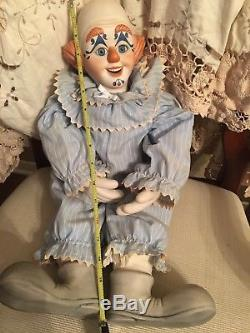 Vintage, Porcelain Clown Doll