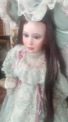 Vintage Porcelain Doll By Judith Turner 1997 36all Original
