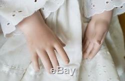 Vintage Porcelain Doll Signed Numbered #4 1994 Realistic Doll Artworks Blue Eyes