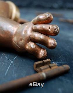 Vintage Porcelain Dolls Copper Arm mould in mint condition Decorative Curio