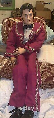 Vintage Porcelain Elvis Doll