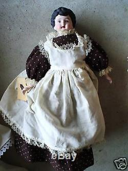 Vintage Porcelain Germany 252 Marked Maid Doll LOOK