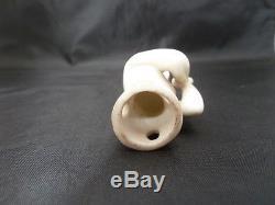 Vintage Porcelain Pincushion Head / Half Doll Germany Pin Cushion No. 23278