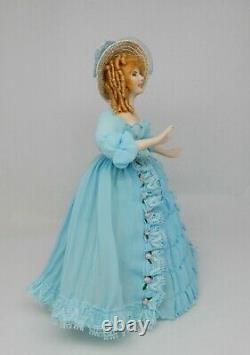 Vintage Porcelain Southern Belle Doll Red Hair Artisan Dollhouse Miniature 112