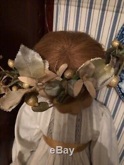Vintage Porcelain and Wax Doll Brigitte Deval Doll Artist 1980s one of a kind