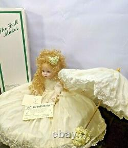 Vintage Rare 01/10 Linda Rick Porcelain Doll Victoria of Victorian Village 24