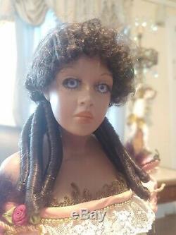 Vintage Rare Black Gypsy Doll Gitana With Stunning Lavender Eyes