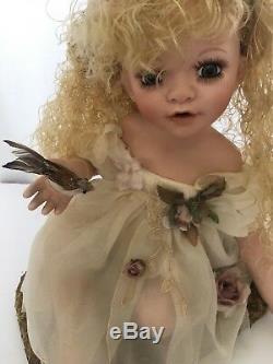 Vintage Rare Duck House Heirloom Porcelain Doll Fairy Lamp Night Light