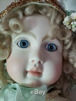 Vintage Reproduction Steiner Antique French Porcelain Doll 32 Mohair Wig Artist