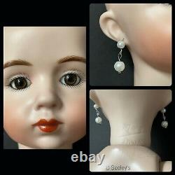 Vintage Reproduction of French Antique Albert Marque Porcelain 18 Doll