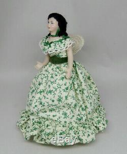 Vintage Scarlett O'Hara Porcelain Doll Artisan Dollhouse Miniature 112